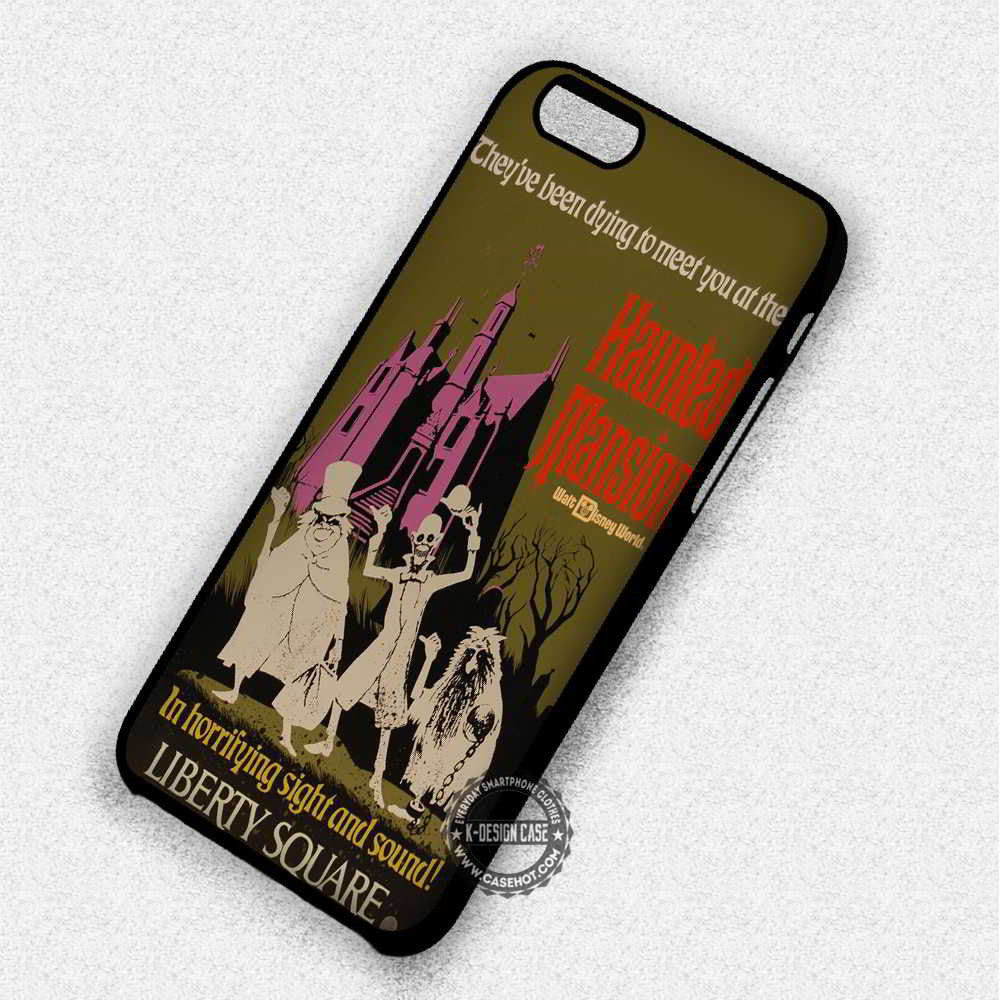 Haunted Poster Mansion - iPhone 7 6 Plus 5c 5s SE Cases & Covers - Kawung Design  - 1