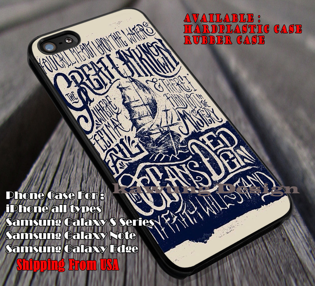Hillsong United Oceans Lyric, case/cover for iPhone 4/4s/5/5c/6/6+/6s/6s+ Samsung Galaxy S4/S5/S6/Edge/Edge+ NOTE 3/4/5 #music #hut ii - Kawung Design  - 1