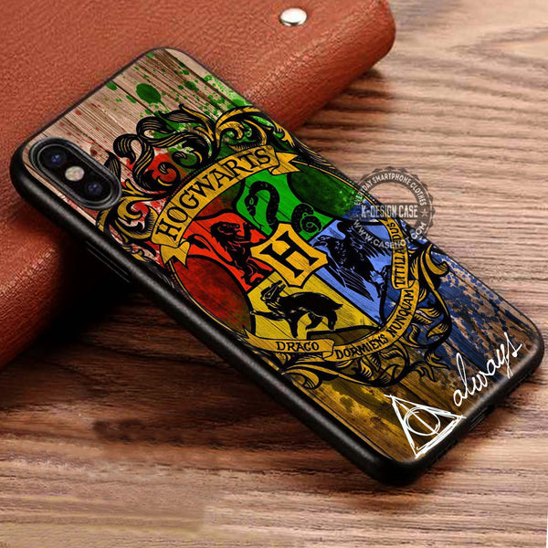 Harry Potter Hogwarts Wizard Wood iPhone X Case