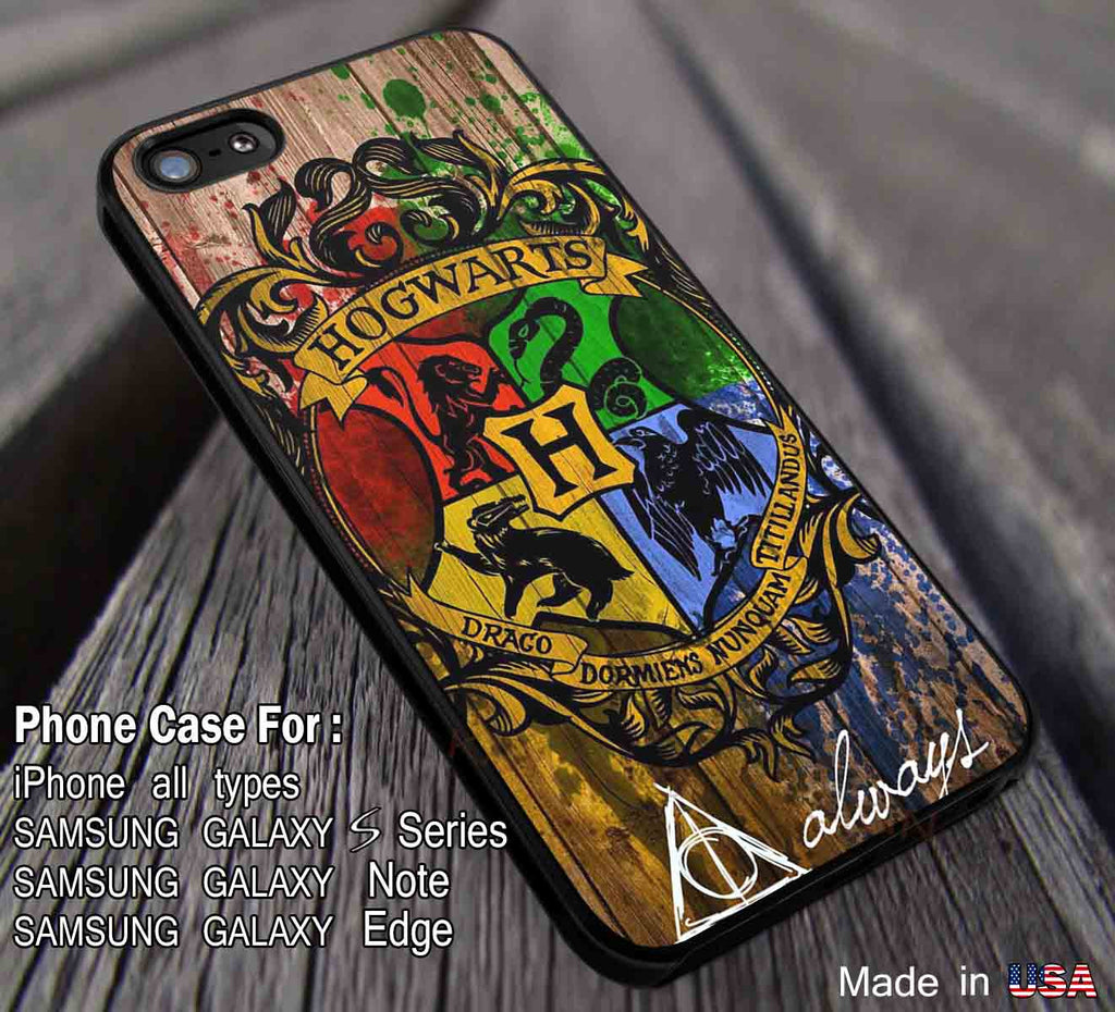Hogwarts Harry Potter iPhone 6s 6plus 6s+ 5c 5s 4s Cases Samsung Galaxy s5 s6 Edge+ NOTE 5 4 3 Covers #movie #HarryPotter  DOP284 - Kawung Design  - 1
