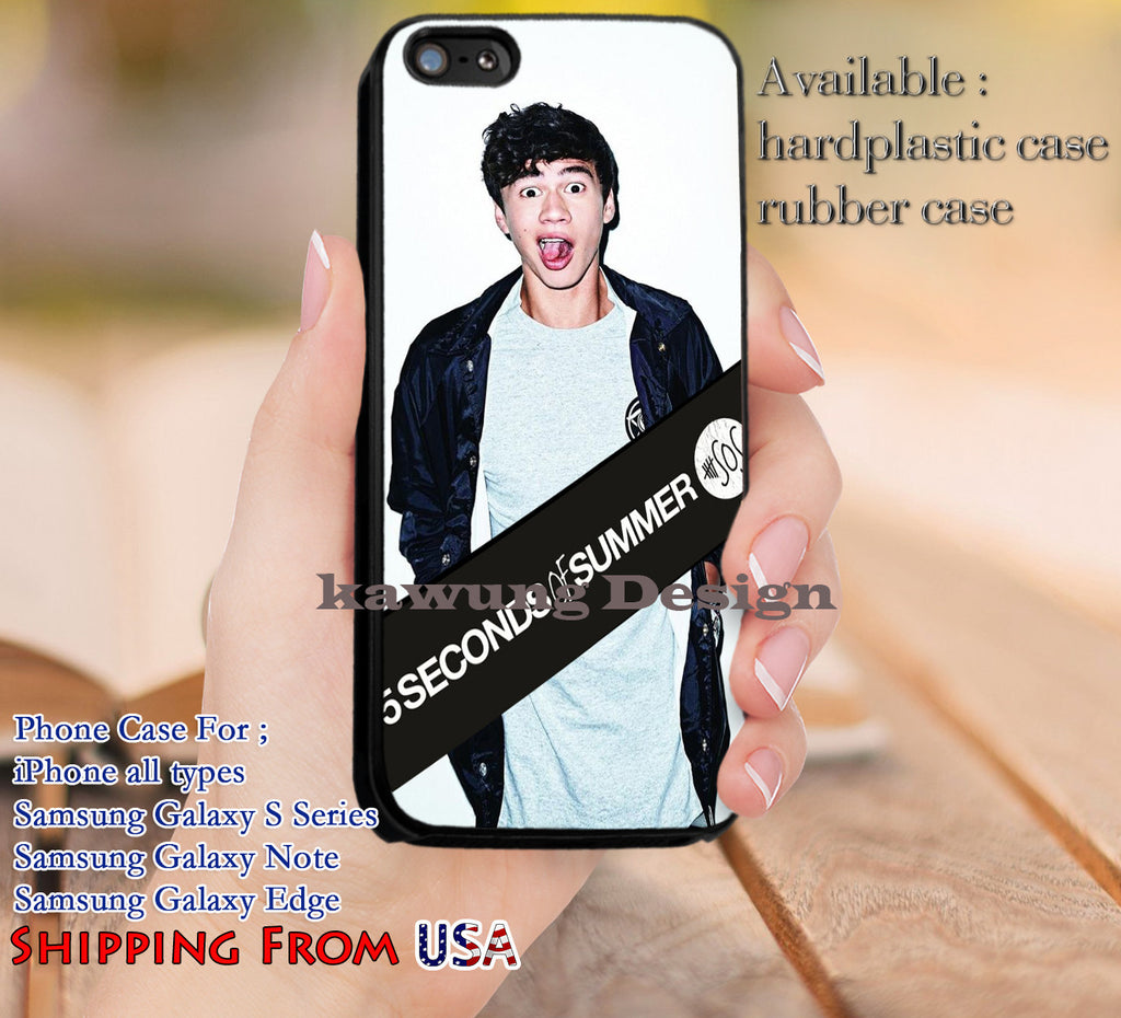Calum Hood 5SOS Logo iPhone 6s 6 6s+ 5c 5s Cases Samsung Galaxy s5 s6 Edge+ NOTE 5 4 3 #music #5sos dl11 - Kawung Design  - 1