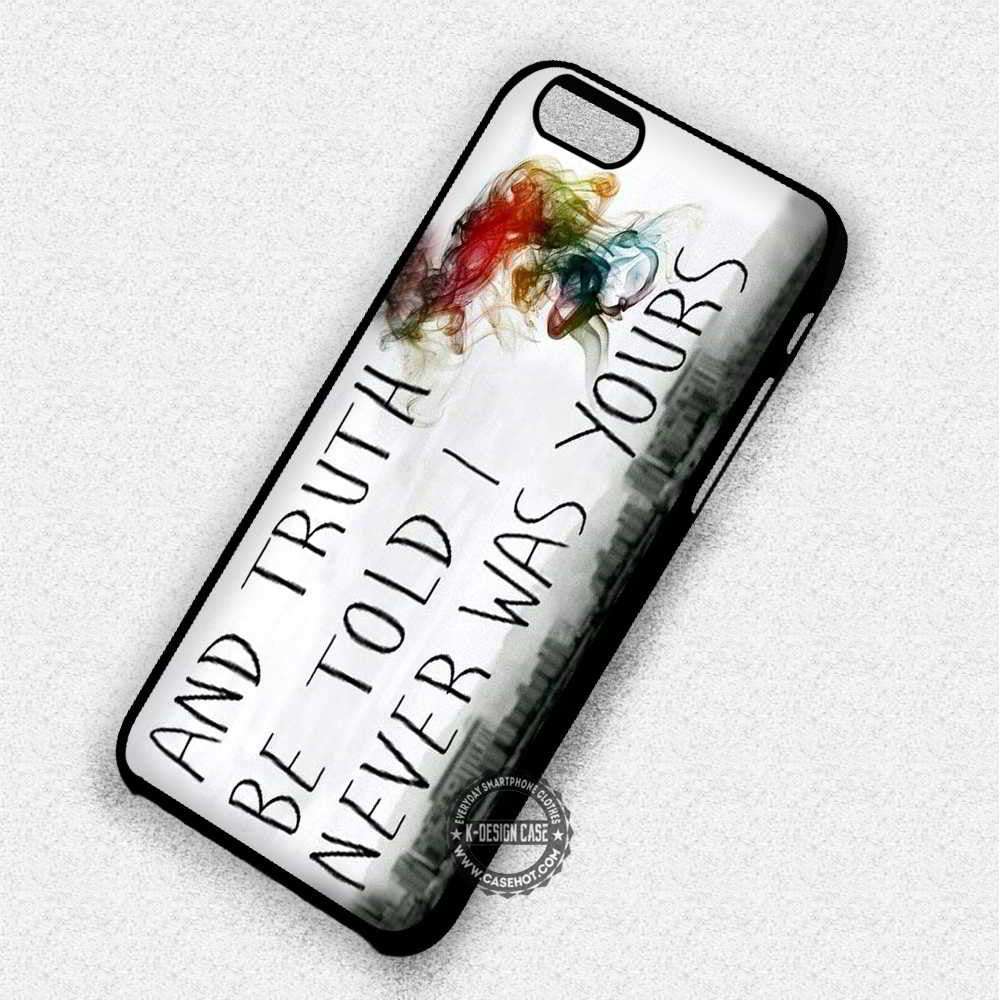 I Never Was Yours Lyric Panic at The Disco - iPhone 7 6 Plus 5c 5s SE Cases & Covers - Kawung Design  - 1