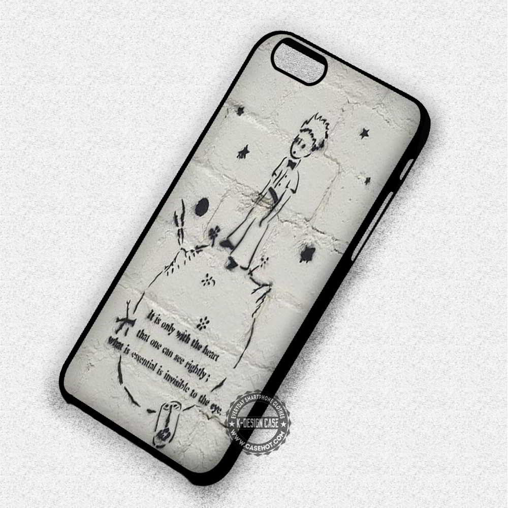 It Is Only With The Heart The Little Prince Quote - iPhone 7 6 Plus 5c 5s SE Cases & Covers - Kawung Design  - 1