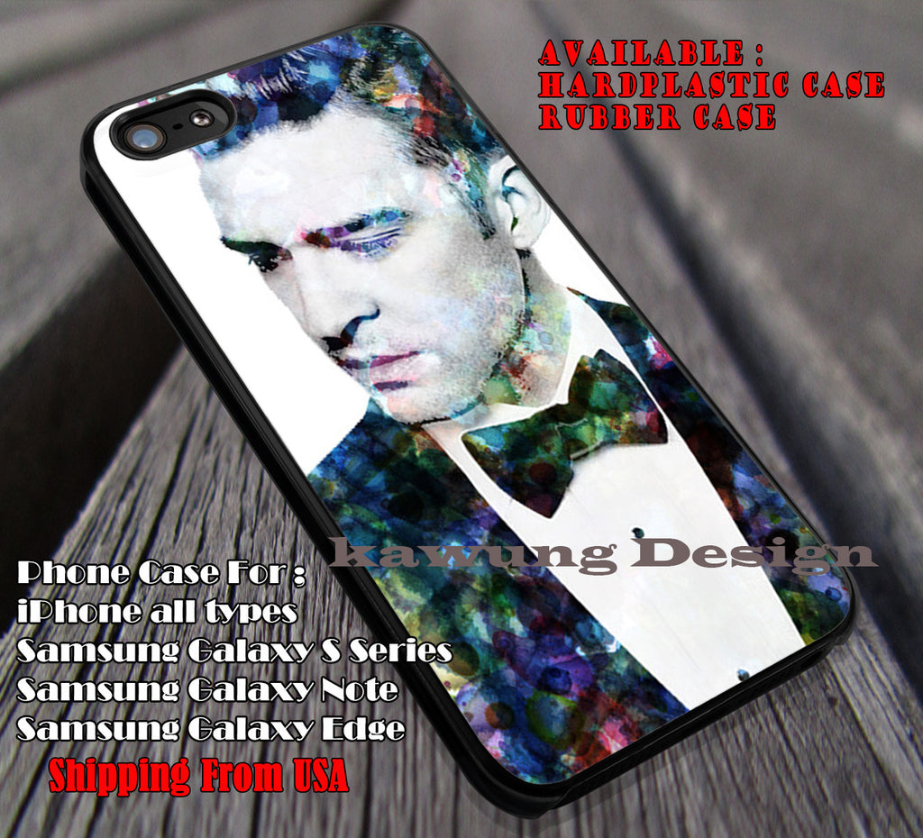 JT art, Justin Timberlake, case/cover for iPhone 4/4s/5/5c/6/6+/6s/6s+ Samsung Galaxy S4/S5/S6/Edge/Edge+ NOTE 3/4/5 #music #jt ii - Kawung Design  - 1
