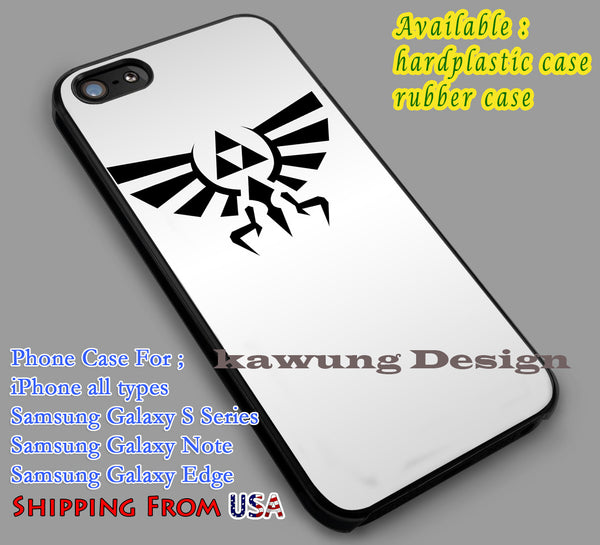 Legend of Zelda | Triforce | Hylian Crest Silver iPhone 6s 6 6s+ 6plus Cases Samsung Galaxy s5 s6 Edge+ NOTE 5 4 3 #cartoon #anime #TheLegendOfZelda #game dl2 - Kawung Design  - 1
