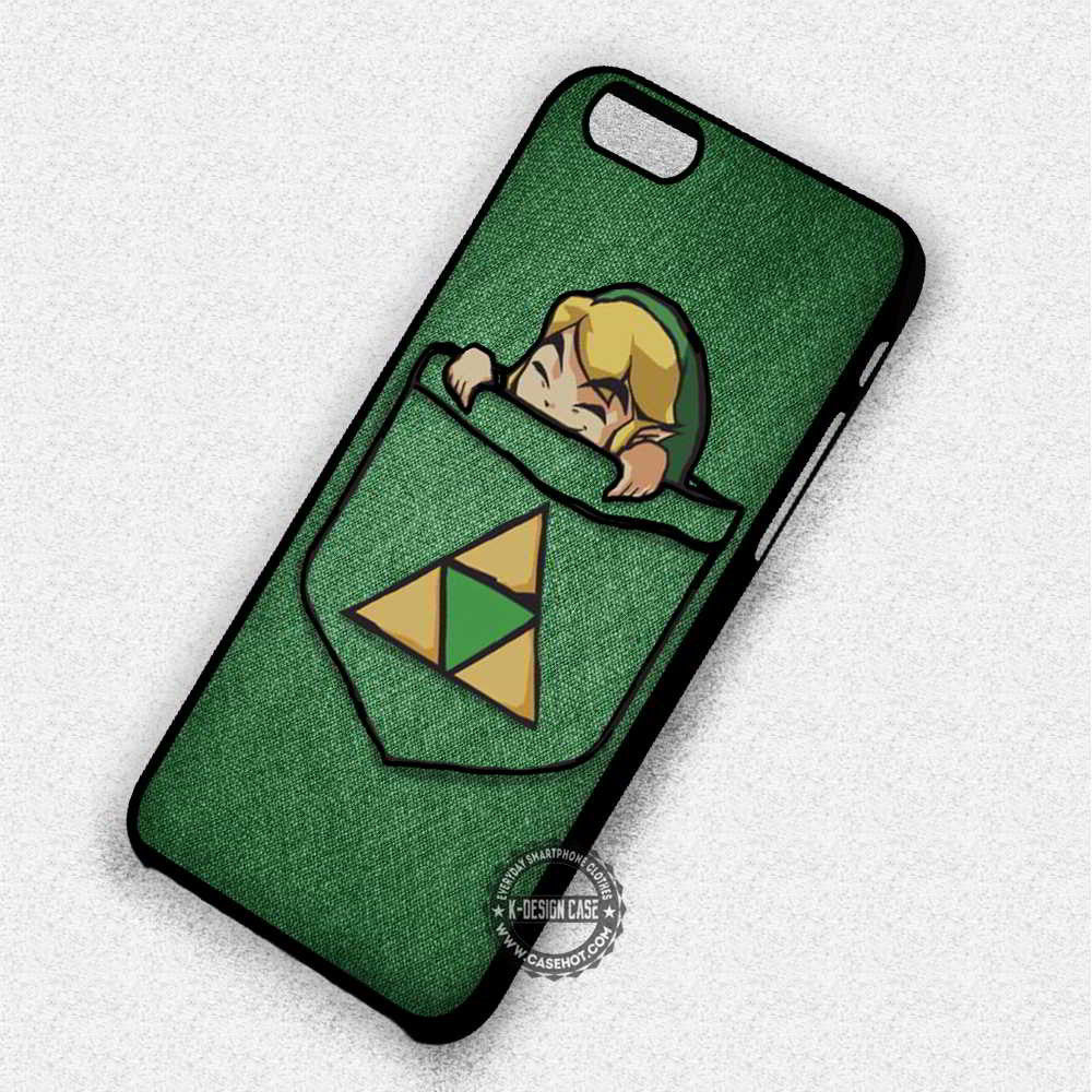 Link in Pocket Legend of Zelda - iPhone 7 6 Plus 5c 5s SE Cases & Covers - Kawung Design  - 1