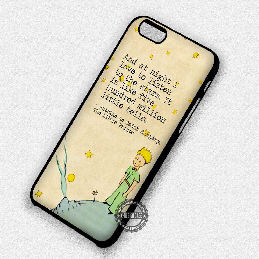 Listen To The Stars The Little Prince Quote - iPhone 7 6 Plus 5c 5s SE Cases & Covers - Kawung Design  - 1