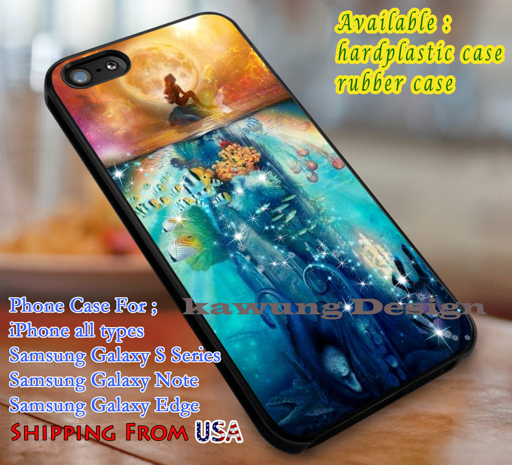 Ariel The Little Mermaid case/cover for iPhone 4/4s/5/5c/6/6+/6s/6s+ Samsung Galaxy S4/S5/S6/Edge/Edge+ NOTE 3/4/5 #cartoon #disney #animated #thelittlemermaid dl1 - Kawung Design  - 1