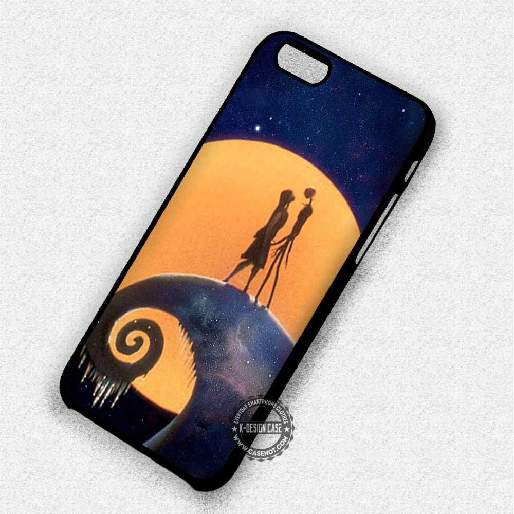 Lovely Fullmoon Nightmare Before Christmas Jack Sally - iPhone 7 6 Plus 5c 5s SE Cases & Covers - Kawung Design  - 1