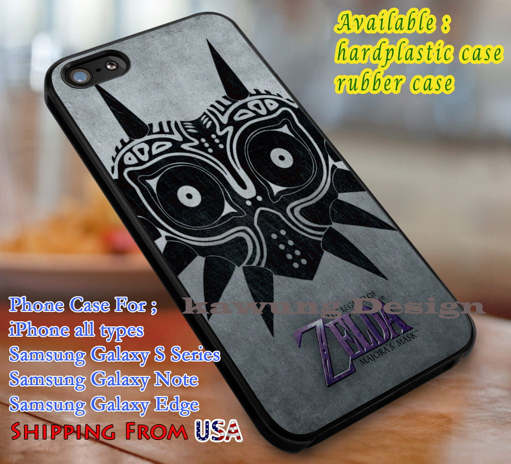 Majora Mask, The Legend of Zelda, Video Game, case/cover for iPhone 4/4s/5/5c/6/6+/6s/6s+ Samsung Galaxy S4/S5/S6/Edge/Edge+ NOTE 3/4/5 #cartoon #anime #thelegendofzelda #game dl1 - Kawung Design  - 1
