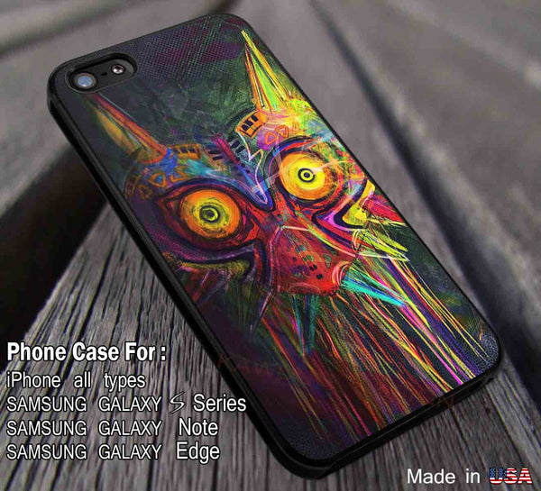 Majora Mask The Legend of Zelda iPhone 6s 6 plus 6s+ 5c 5s Cases Samsung Galaxy s5 s6 Edge+ NOTE 5 4 3 Covers #cartoon #anime #TheLegendOfZelda #game dl12 - Kawung Design  - 1
