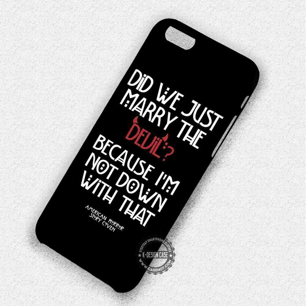 Marry The Devil Quote Tate Langdon - iPhone 7 6 Plus 5c 5s SE Cases & Covers - Kawung Design  - 1