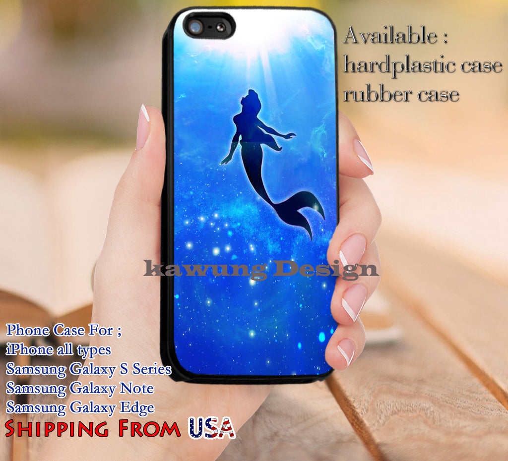 Ariel The Little Mermaid iPhone 6s 6 6s+ 5c 5s Cases Samsung Galaxy s5 s6 Edge+ NOTE 5 4 3 #cartoon #disney #animated #theLittleMermaid dl10 - Kawung Design  - 1