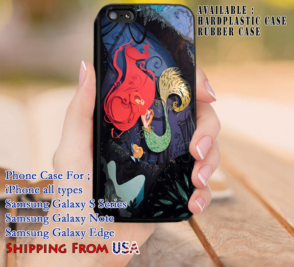 Mermaid Paper Art iPhone 6s 6 6s+ 5c 5s Cases Samsung Galaxy s5 s6 Edge+ NOTE 5 4 3 #cartoon #disney #animated #theLittleMermaid dl8 - Kawung Design  - 1