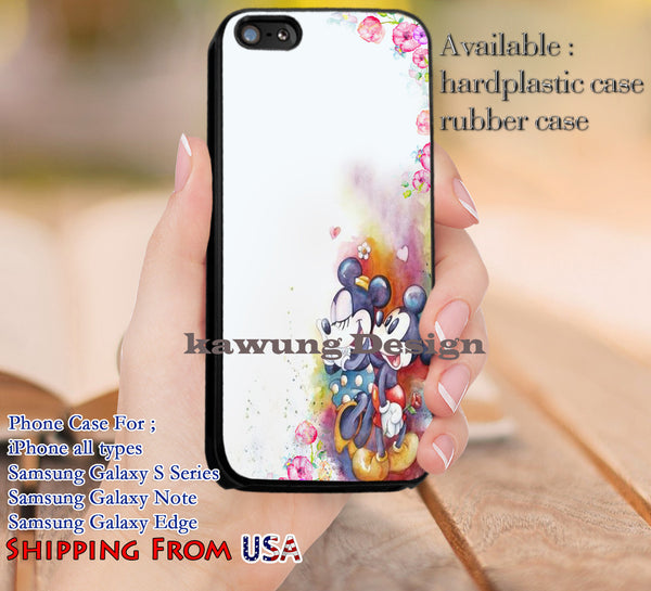 Mickey Minnie Mouse iPhone 6s 6 plus 5c 5s Cases Samsung Galaxy s5 s6 Edge+ NOTE 5 4 3 2 Covers #cartoon #disney #MickeyMouse dl14 - Kawung Design  - 1