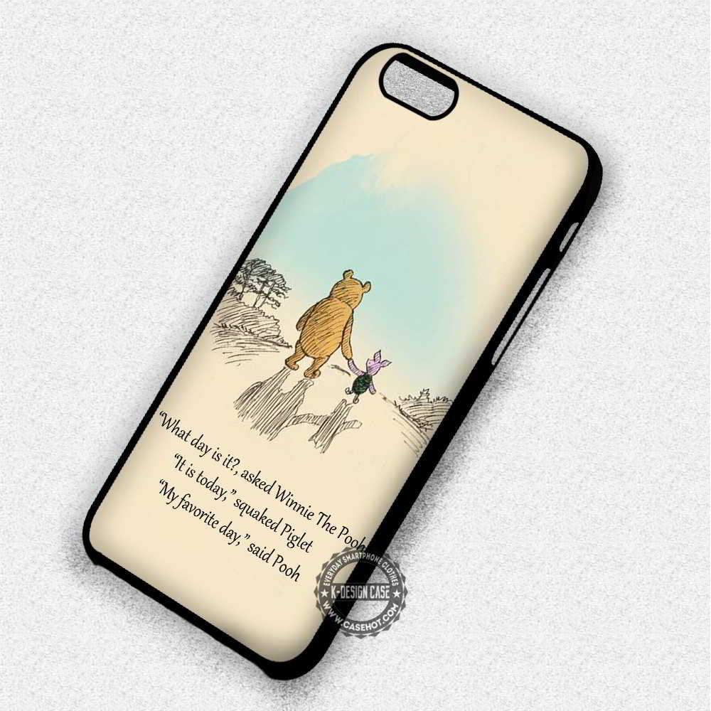 My Favorite Day Winnie The Pooh Quote - iPhone 7 6 Plus 5c 5s SE Cases & Covers - Kawung Design  - 1