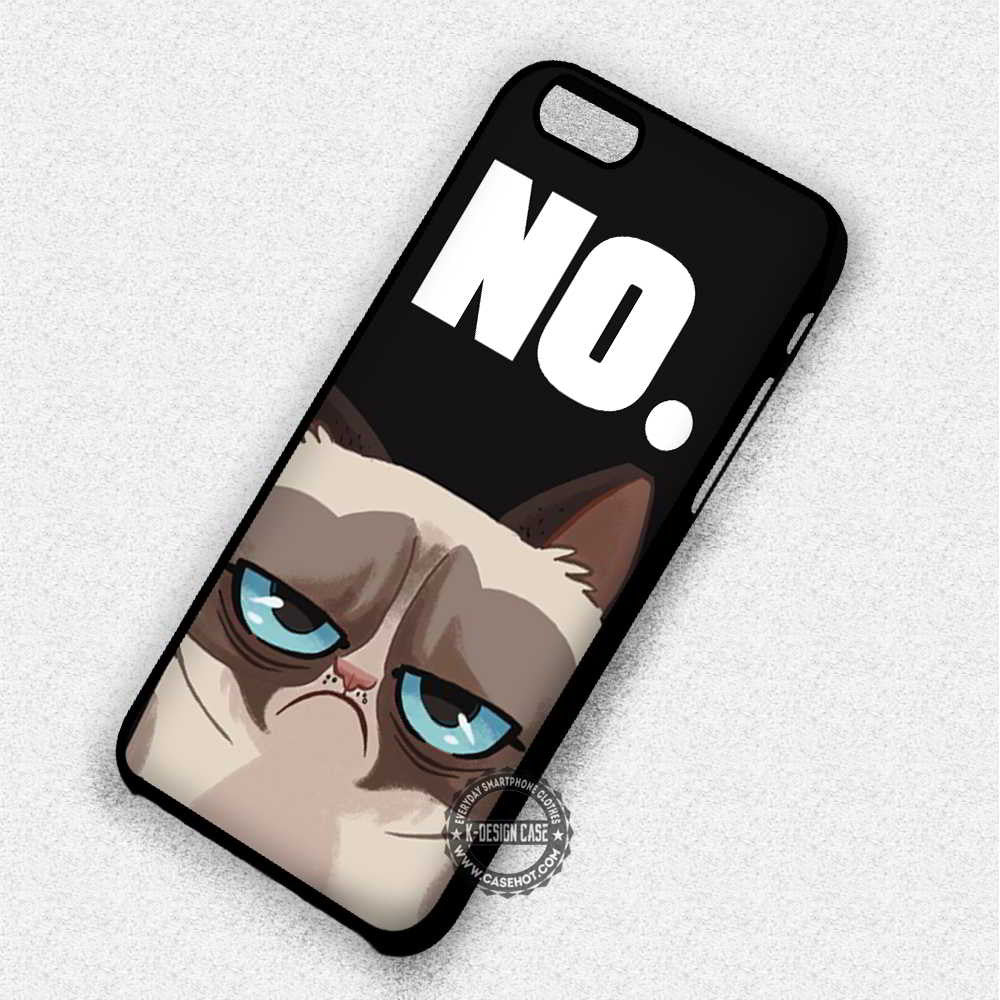 NO Grumpy Cat Quote - iPhone 7 6 Plus 5c 5s SE Cases & Covers - Kawung Design  - 1