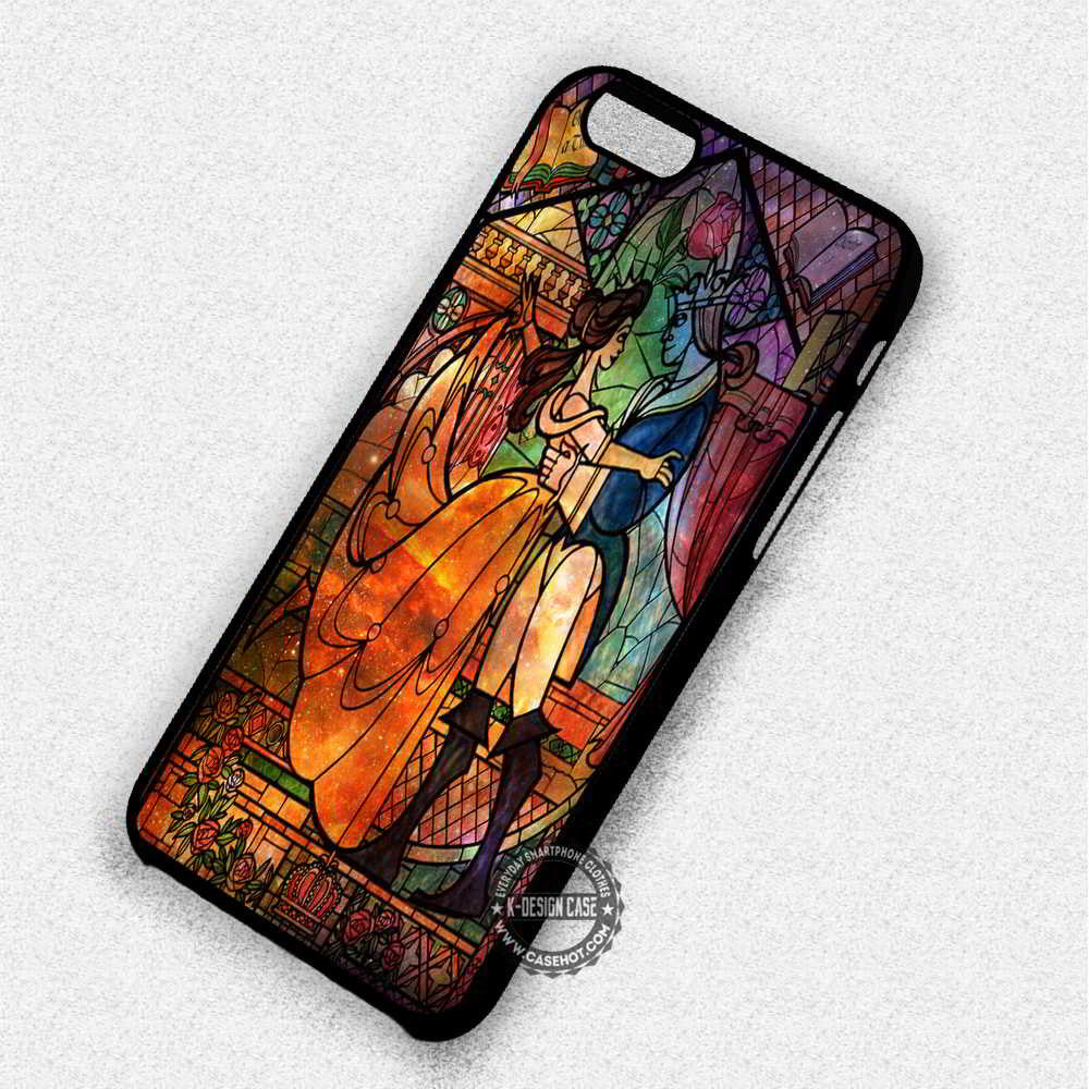 Nebula Stained Glass Beauty and the Beast - iPhone 7 6 Plus 5c 5s SE Cases & Covers - Kawung Design  - 1