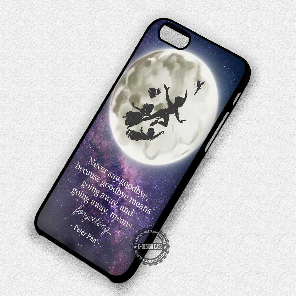 Never Say Goodbye Peter Pan Quote - iPhone 7 6 5s SE Cases & Covers - Kawung Design  - 1
