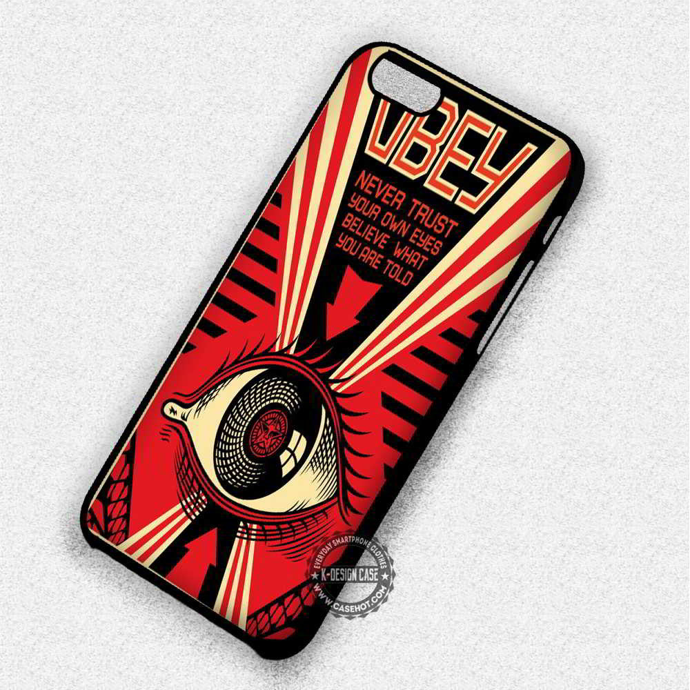 Never trust Your Own Eyes Obey - iPhone 7 6 Plus 5c 5s SE Cases & Covers - Kawung Design  - 1