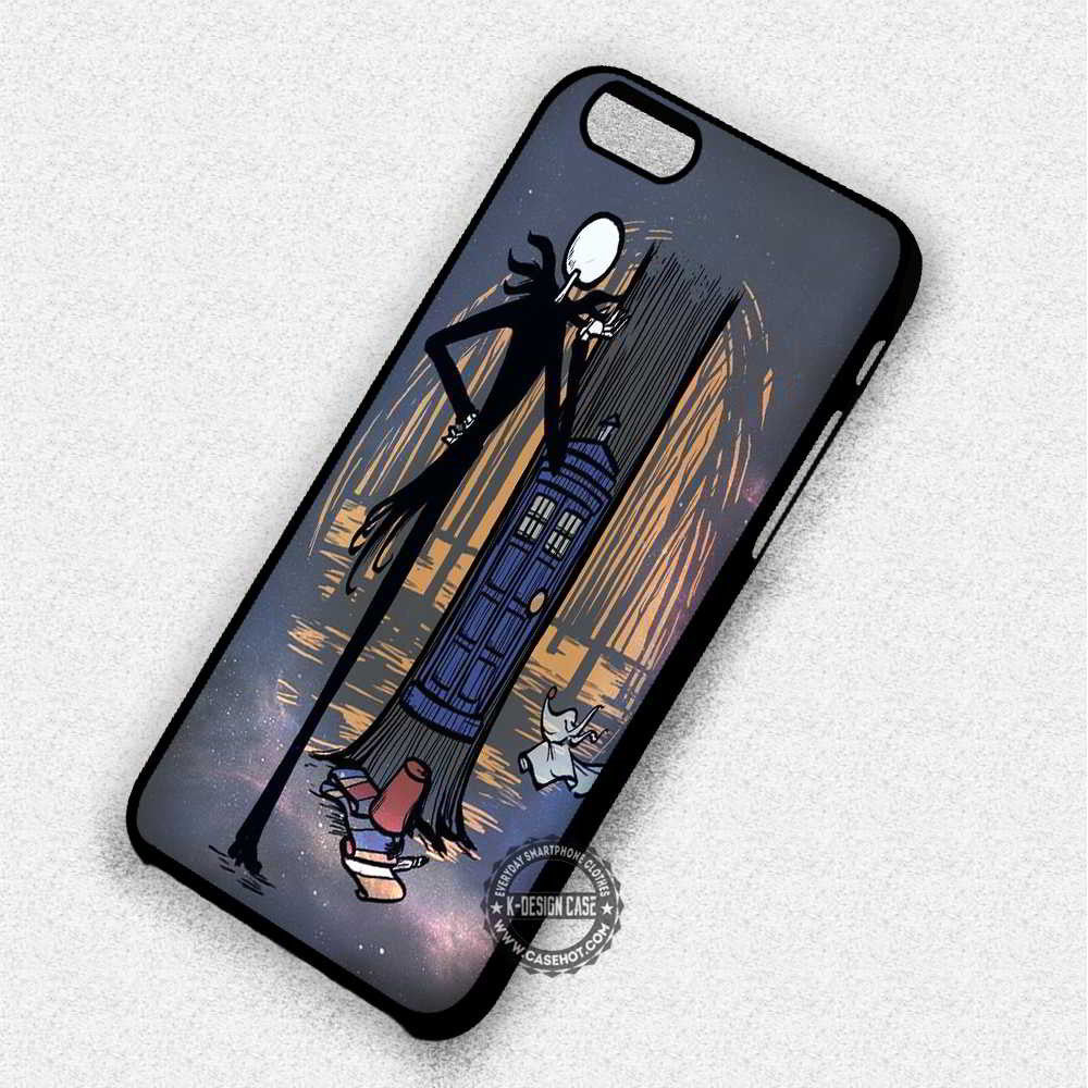 Nightmare Before Christmas Skull Tardis - iPhone 7 6 Plus 5c 5s SE Cases & Covers - Kawung Design  - 1