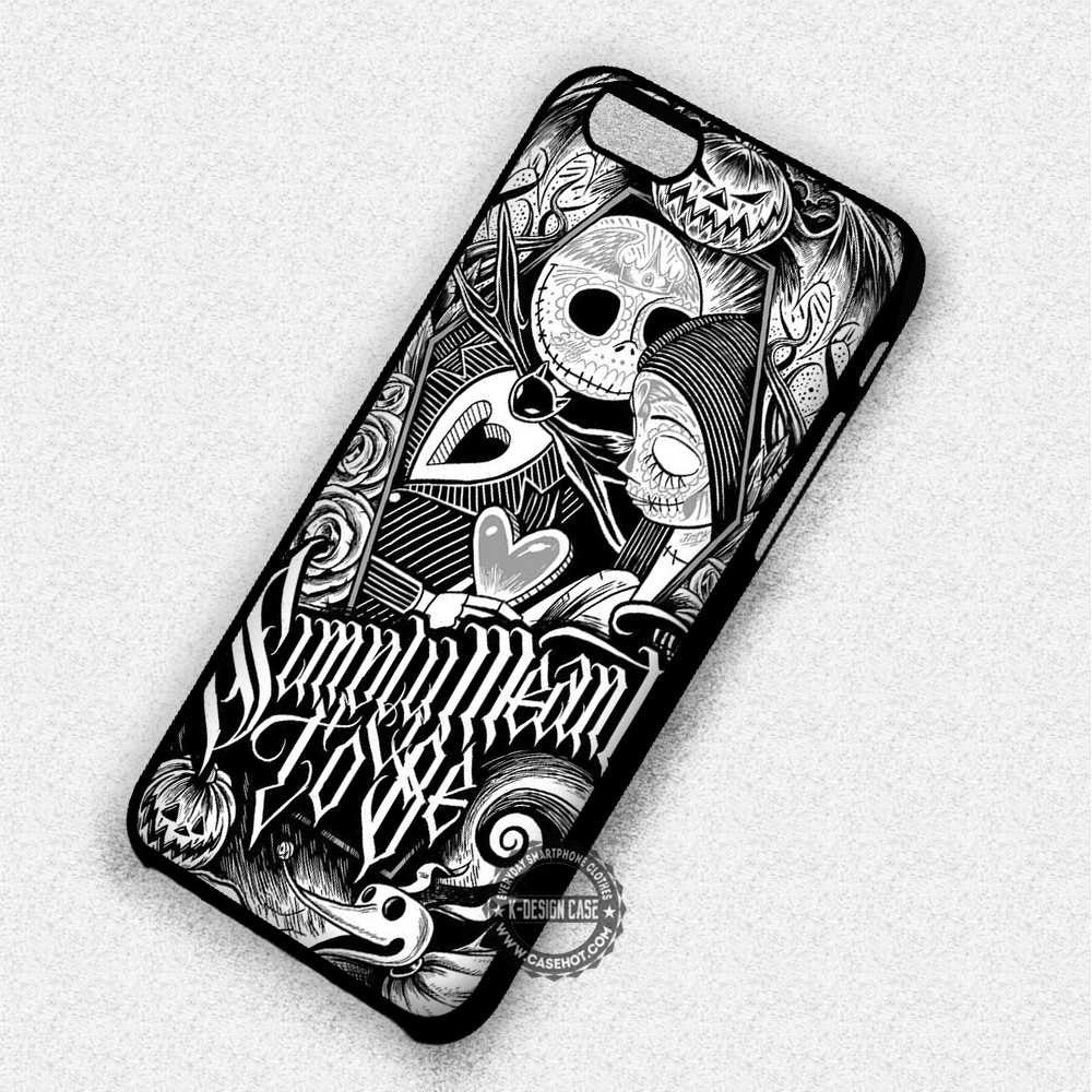 The Nightmare Before Christmas Jack Sally - iPhone 7 6 Plus 5c 5s SE Cases & Covers - Kawung Design  - 1