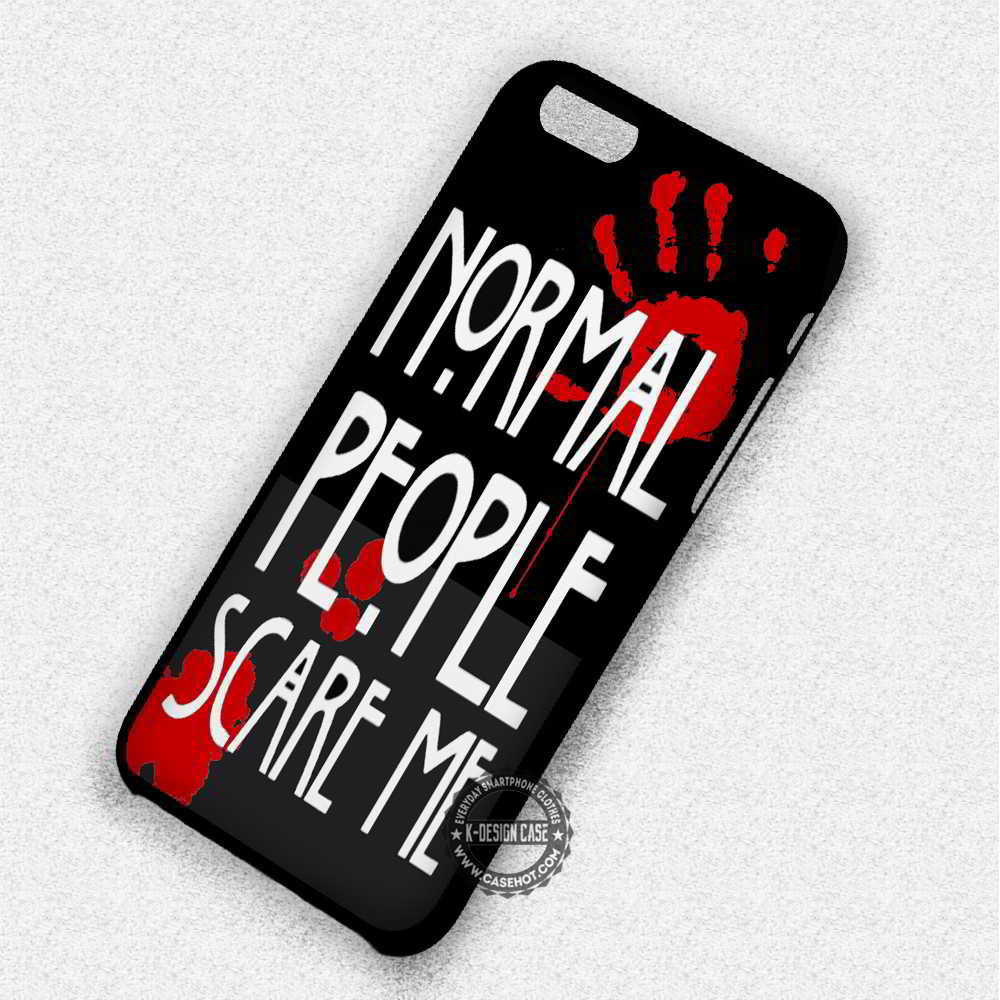 Normal People Scare Me - iPhone 7 6 Plus 5c 5s SE Cases & Covers - Kawung Design  - 1