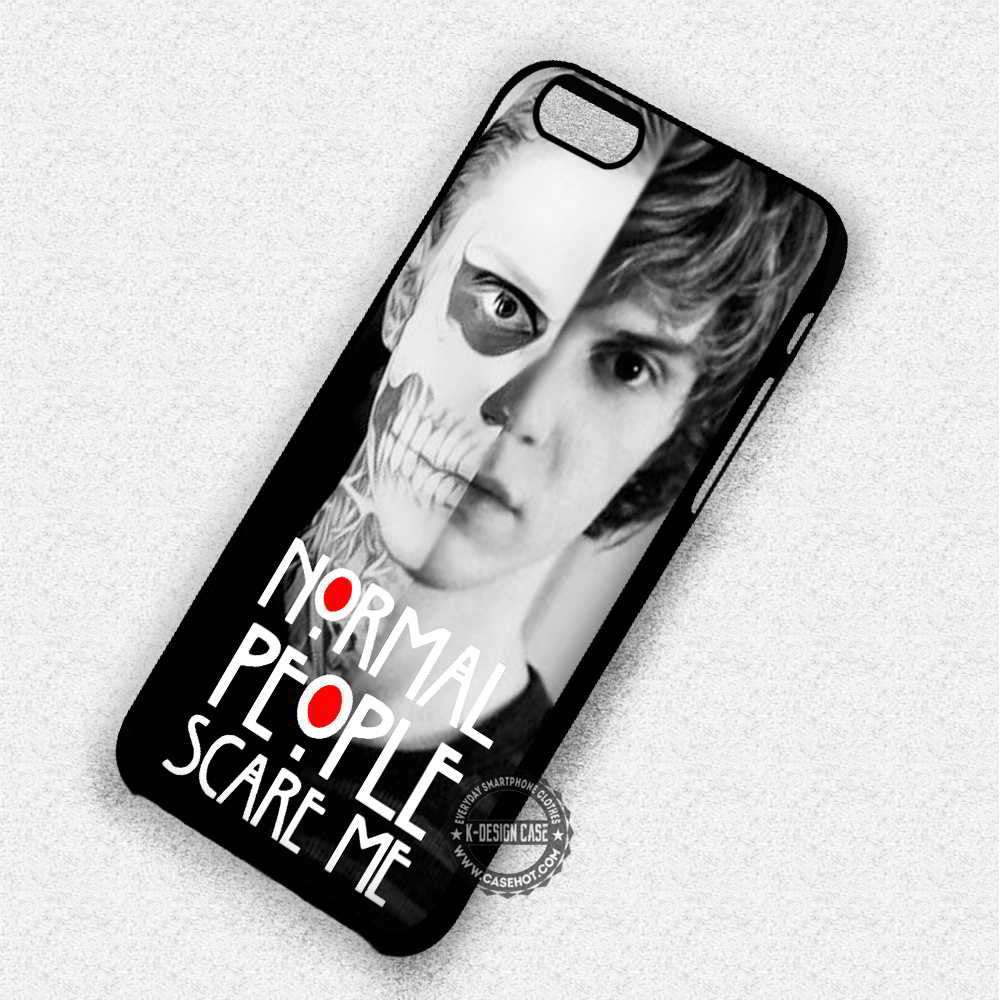 Normal People Scare Me Tate Langdon Quote - iPhone 7 6 Plus 5c 5s SE Cases & Covers - Kawung Design  - 1