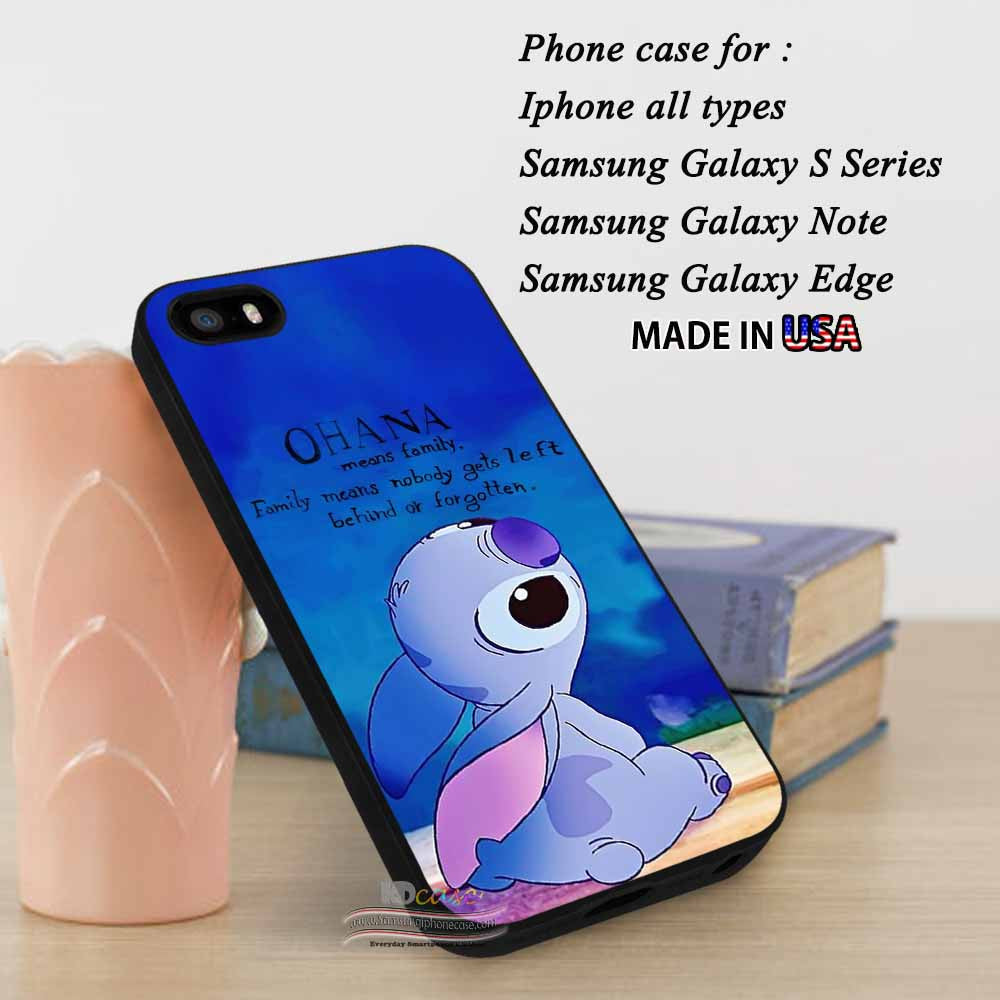 Iphone Se Case Lilo And Stitch Quotes Ohana Collage Art Samsung