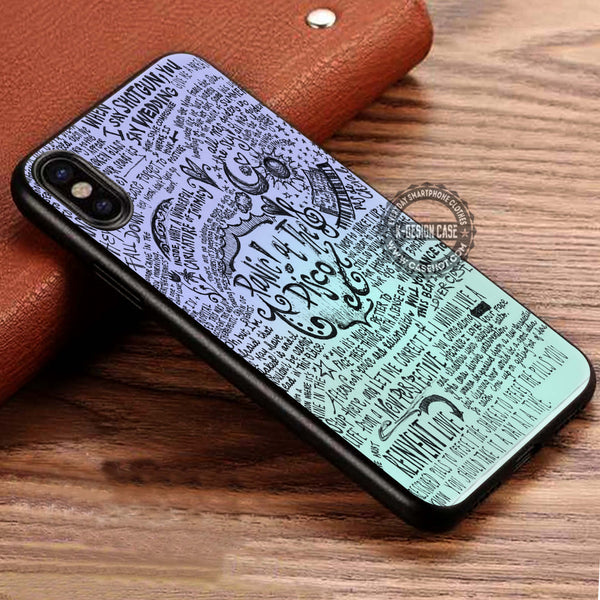 Collage Art Lyric Panic At The Disco iPhone X Case