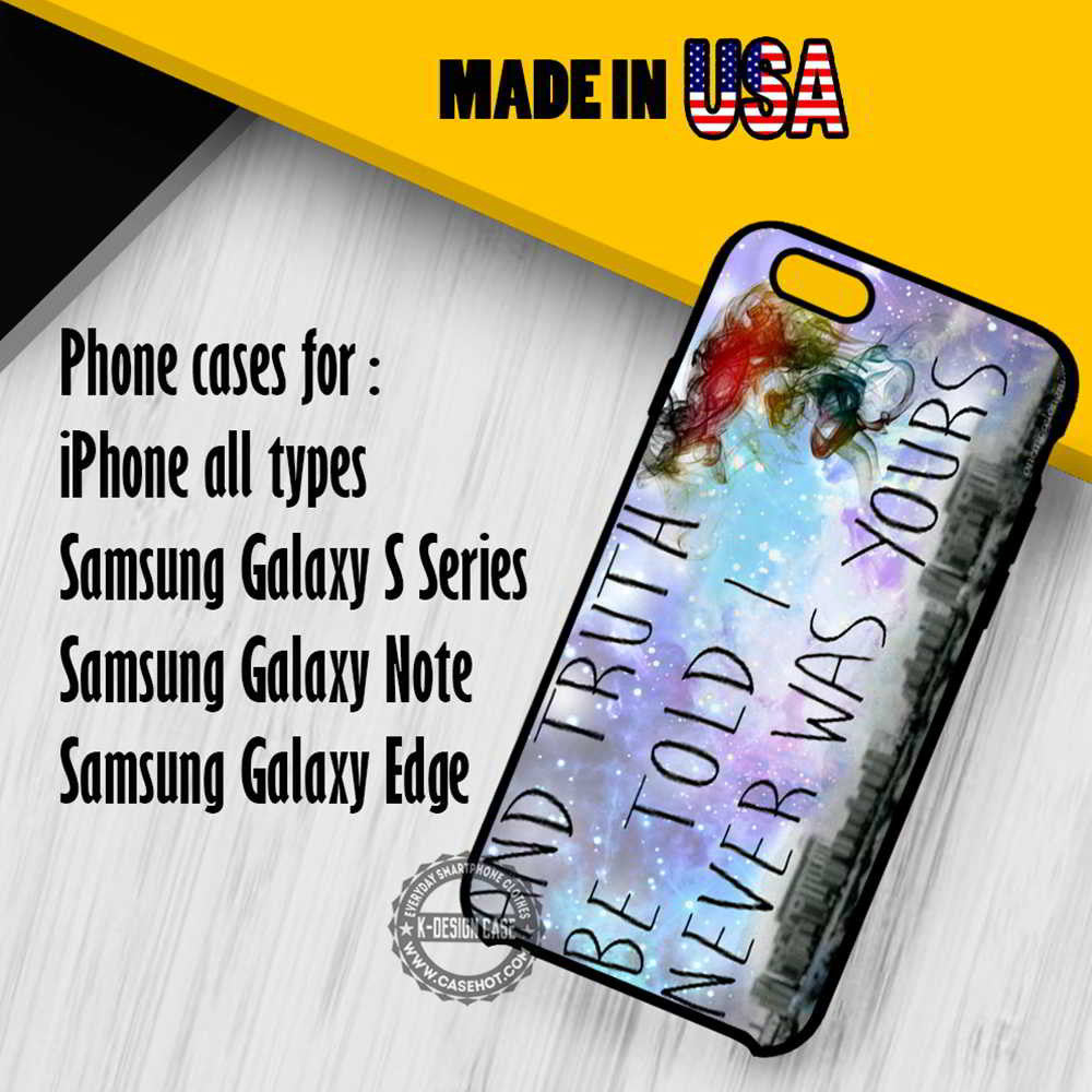 PATD Lyrics I Never Was Yours IPhone 7 6s 6 SE Cases Samsung Galaxy
