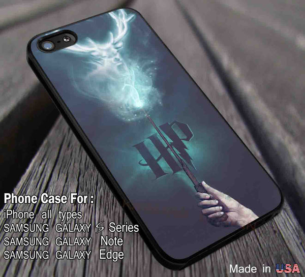 Patronus Harry Potter Snape Hogwarts Case Cover iPhone 4/4s/5/5c/6/6+/6s/6s+ Samsung Galaxy S4/S5/S6/Edge/Edge+ NOTE 3/4/5 #movie #harrypotter dl1 - Kawung Design  - 1