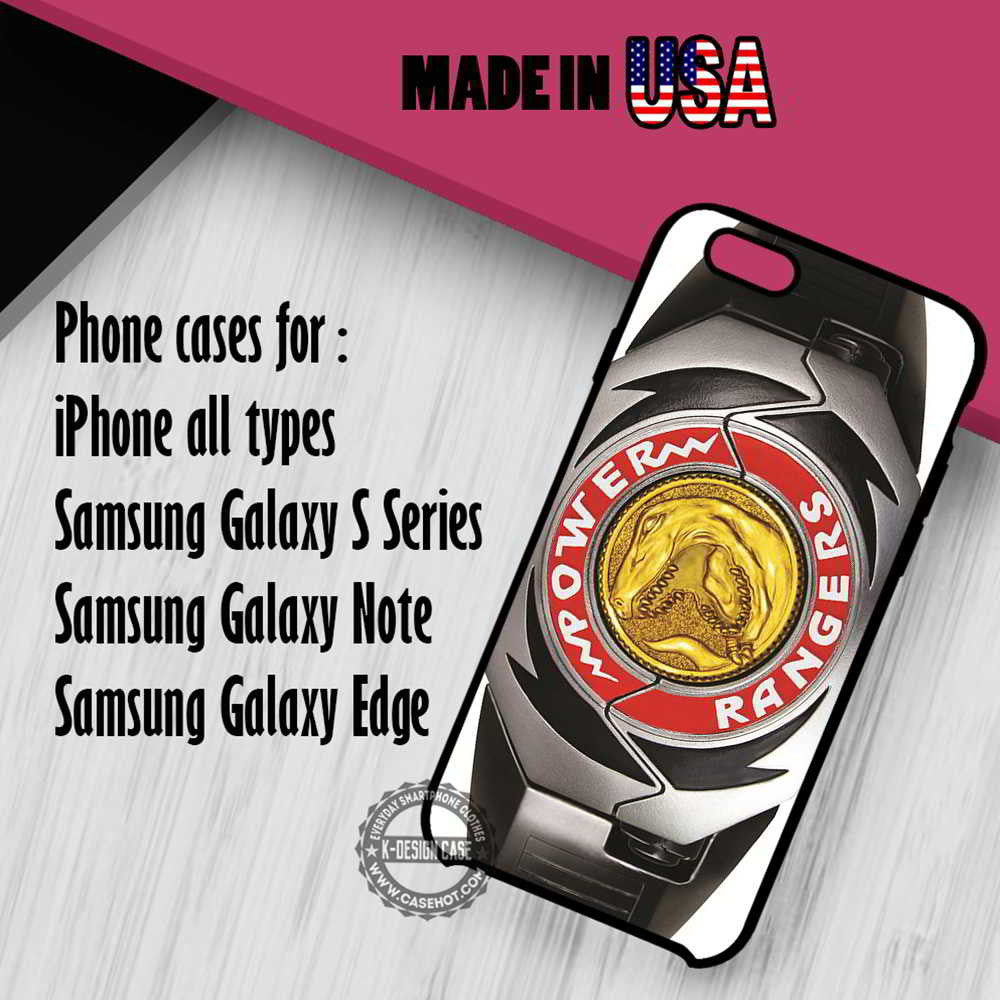 Power Ranger Belt Mighty Morphin iPhone 7 7+ 6s 6 SE Cases Samsung Galaxy S7 edge S6 S5  NOTE 7 5 4 3