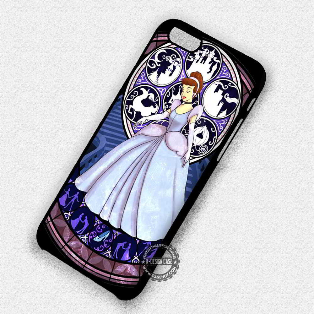 Princess Stainned Glass Cinderella - iPhone 7 6 Plus 5c 5s SE Cases & Covers - Kawung Design  - 1
