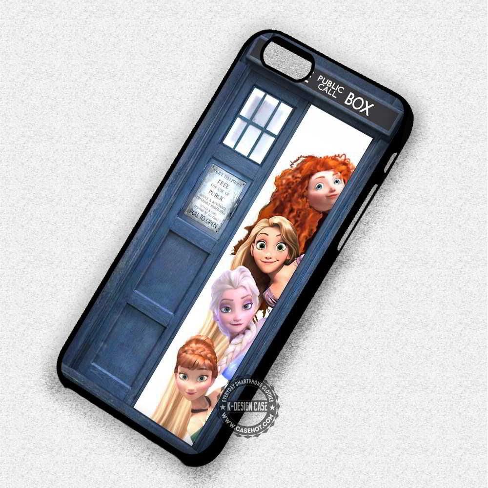 Princess in Princess in The Police Box Tardis Disney - iPhone 7 6 Plus 5c 5s SE Cases & Covers - Kawung Design  - 1