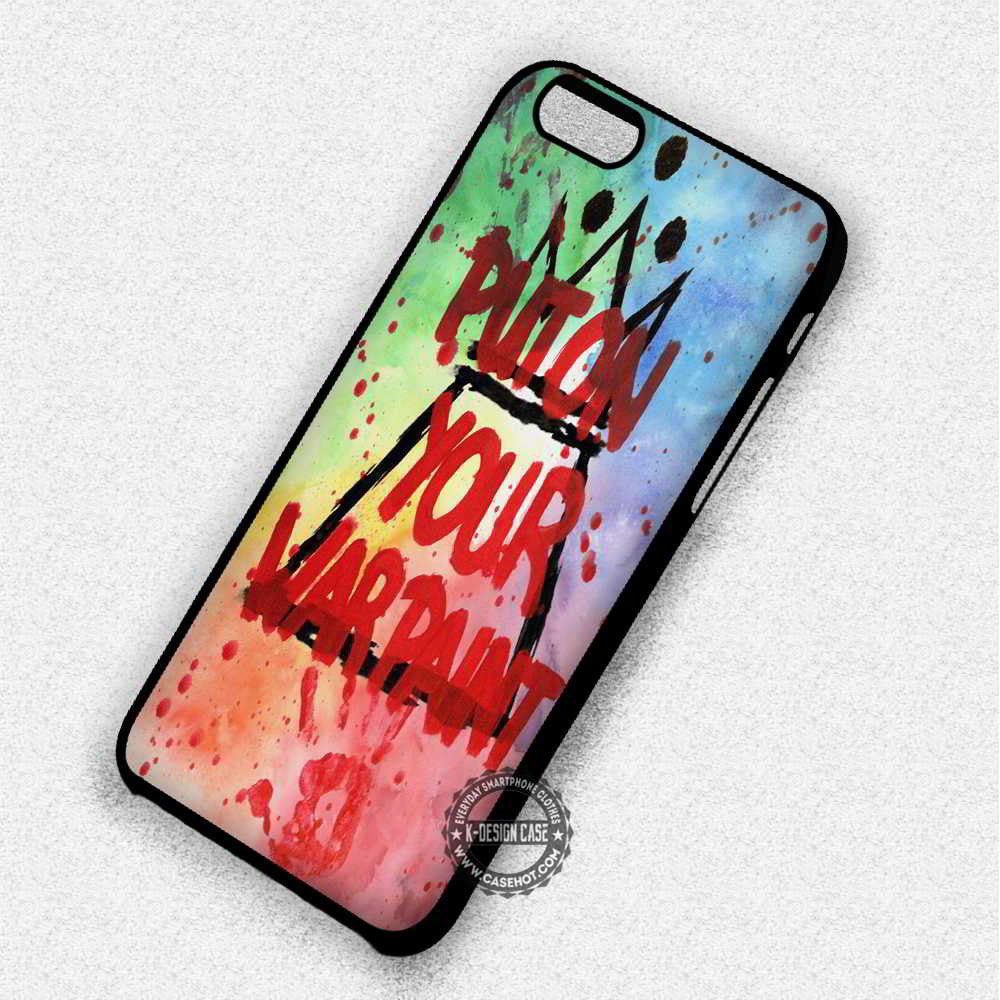 Put On Your War Paint Fall Out Boy Lyric - iPhone 7 6 5 SE 4 Cases & Covers - Kawung Design  - 1