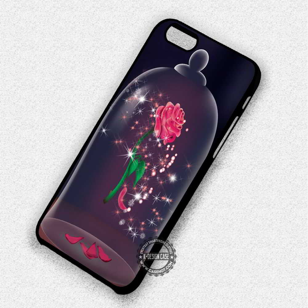 Rose in the Glass Beauty and The Beast Magic - iPhone 7 6 Plus 5c 5s SE Cases & Covers - Kawung Design  - 1