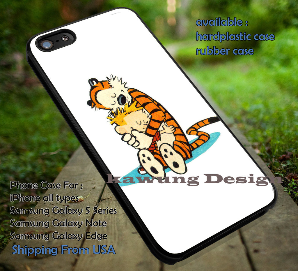 Calvin and Hobbes Hug iPhone 6s 6 6s+ 5c 5s Cases Samsung Galaxy s5 s6 Edge+ NOTE 5 4 3 #cartoon #anime #calvinandhobbes dt - Kawung Design  - 1
