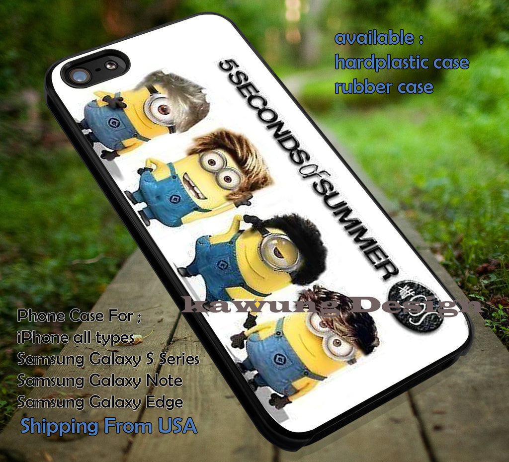 5 Seconds of Summer Minion Version iPhone 6s 6 6s+ 5c 5s Cases Samsung Galaxy s5 s6 Edge+ NOTE 5 4 3 #cartoon #animated #DespicableMe #5sos dt - K-Designs