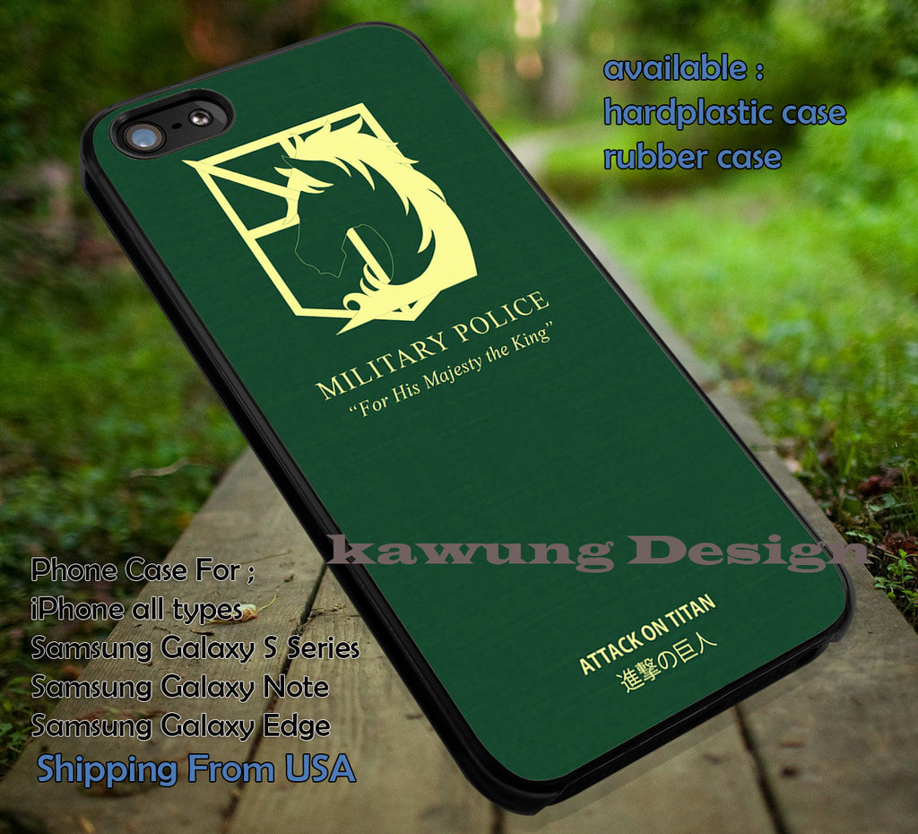 Attack on Titan Military Police iPhone 6s 6 6s+ 5c 5s Cases Samsung Galaxy s5 s6 Edge+ NOTE 5 4 3 #cartoon #anime #attackontitan dt - Kawung Design  - 1