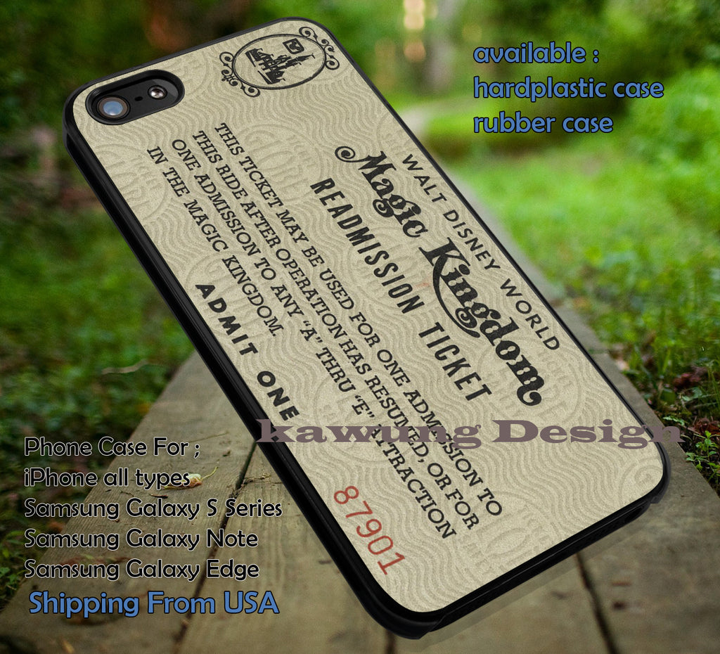Walt Disney World Ticket Vintage IPhone 8 7 6s Cases Samsung Galaxy S8 S7 Edge