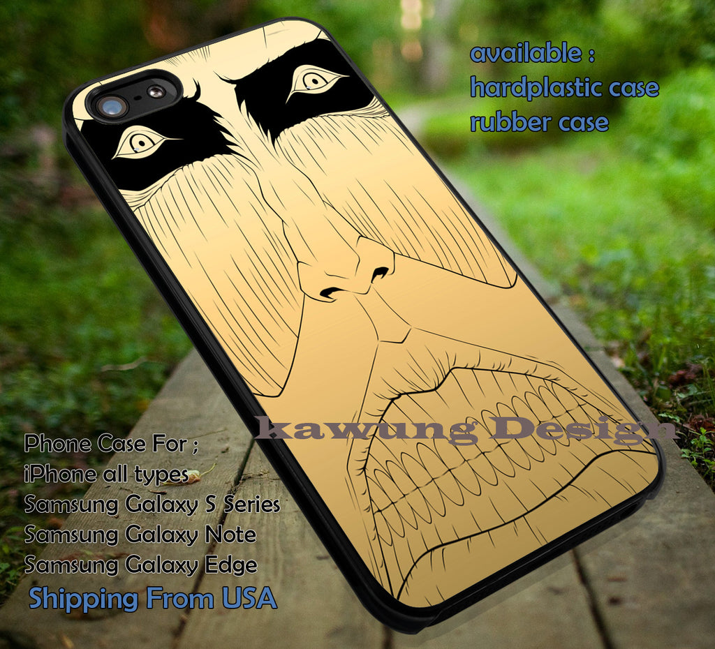 Attack on Titan Colossal Titan Golden Gold iPhone 6s 6 6s+ 5c 5s Cases Samsung Galaxy s5 s6 Edge+ NOTE 5 4 3 #cartoon #anime #attackontitan dt - Kawung Design  - 1