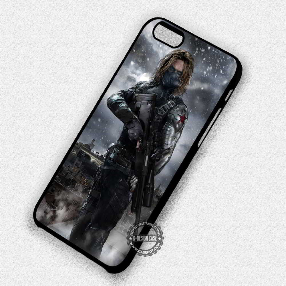 Winter Soldier - iPhone 7 6 Plus 5c 5s SE Cases & Covers - Kawung Design  - 1