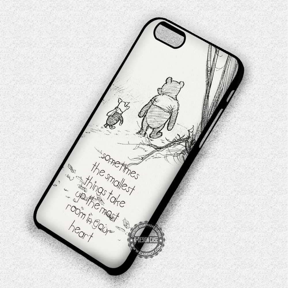 Sometimes Winnie The Pooh Quote - iPhone 7 6 Plus 5c 5s SE Cases & Covers - Kawung Design  - 1