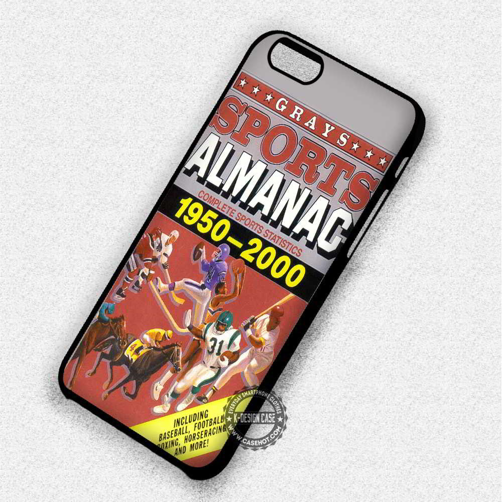 Poster Sports Almanac - iPhone 7 6 Plus 5c 5s SE Cases & Covers - Kawung Design  - 1