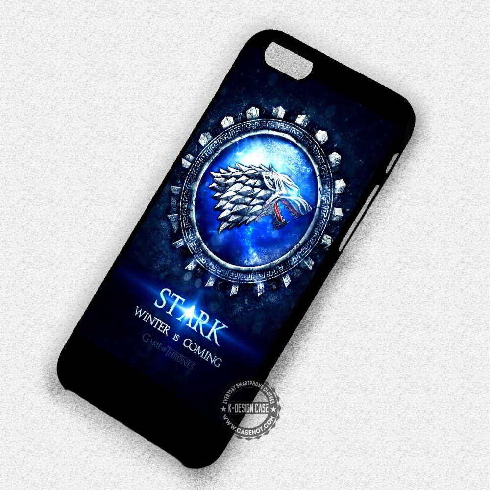 Stark Winter is Coming Game of Thrones - iPhone 7 6 Plus 5c 5s SE Cases & Covers - Kawung Design  - 1