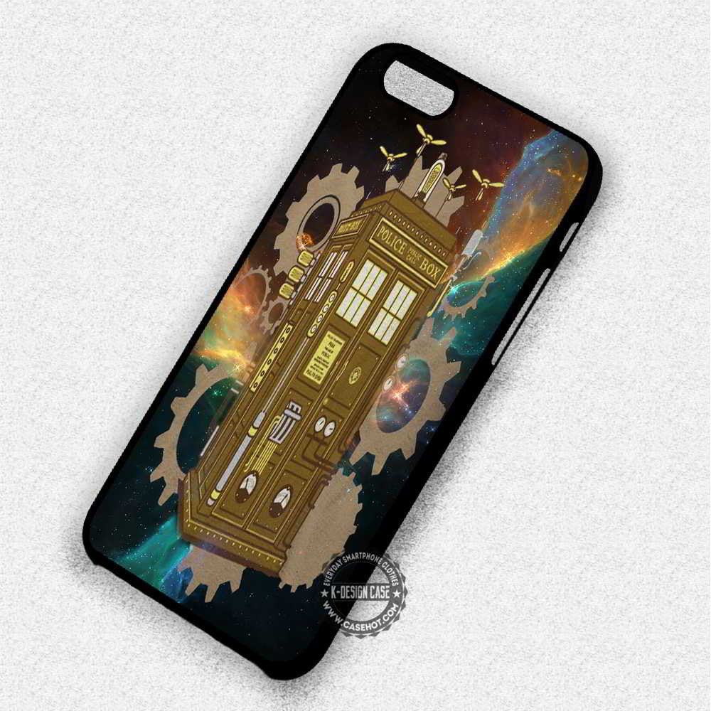Steampunk Police Box Tardis Dr Who - iPhone 7 6 Plus 5c 5s SE Cases & Covers - Kawung Design  - 1