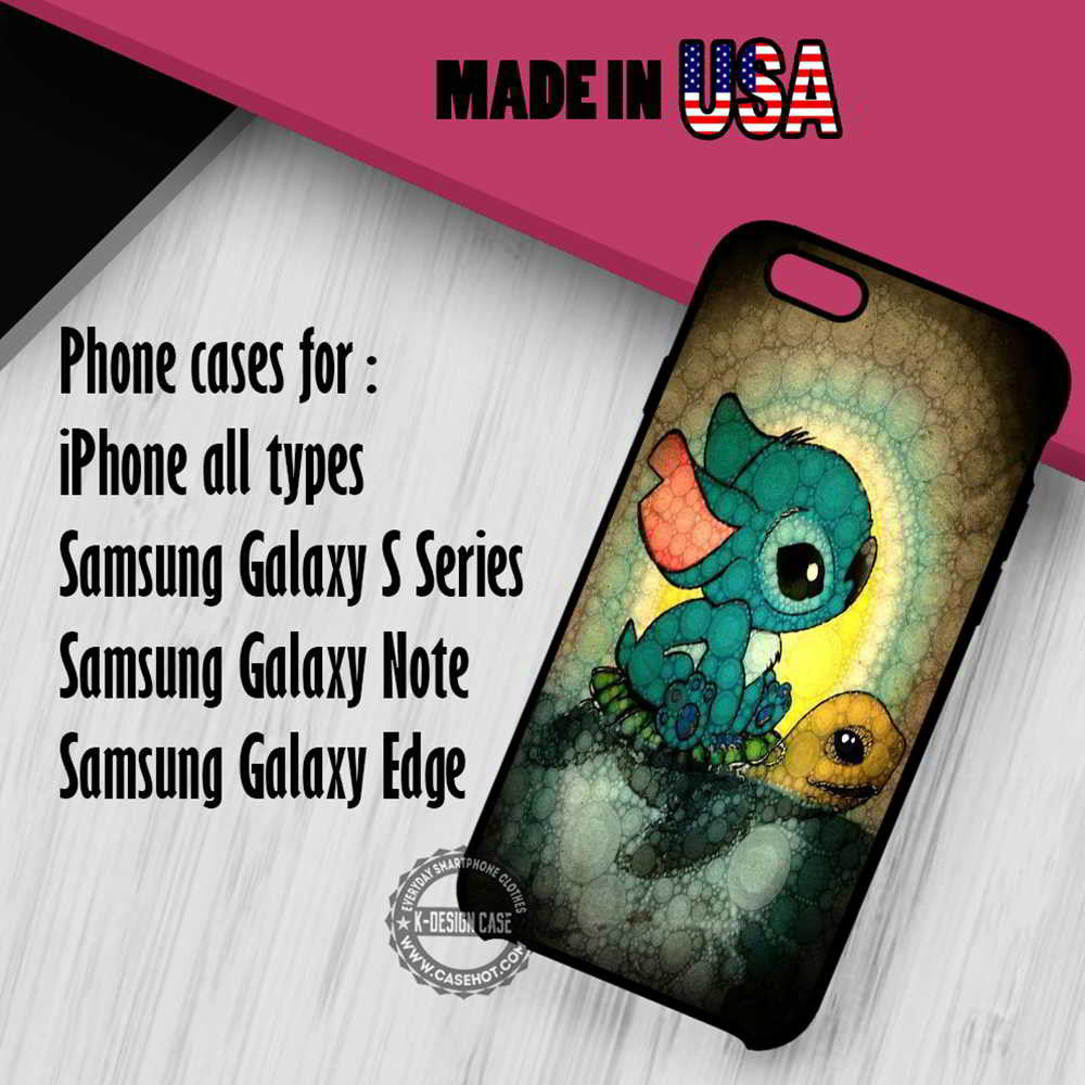 Stitch and Turtle Cute | Case/cover for iPhone 4/4s/5/5c/6/6+/6s/6s+/7/7+ Samsung Galaxy S4/S5/S6/S7/Edge/Edge+ NOTE 3/4/5/7