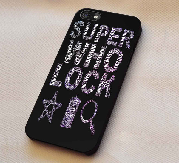 Superwholock Art iPhone 6s 6 plus 5c 5s Cases Samsung Galaxy s5 s6 Edge+ NOTE 5 4 3 #movie #supernatural #superwholock #sherlock #doctorWho dt - Kawung Design  - 1