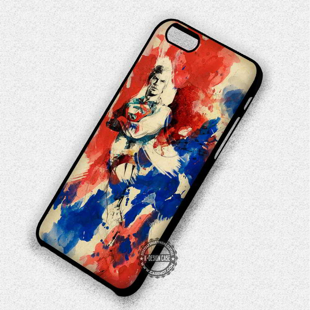 Vintage Painting Superman - iPhone 7 6 Plus 5c 5s SE Cases & Covers - Kawung Design  - 1